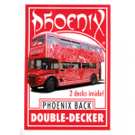 Phoenix Double Decker One Way (Red) by Card-Shark - Trick