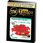 Magnetic Poker Chip Red  plus 3 regular chips (PK003R) by Tango Magic - Trick