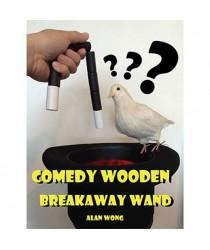 Comedy wooden breakaway wand (XL) by Alan Wong