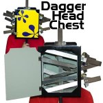 Dagger Head Chest, Wood by Frontier