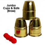 Jumbo Cups & Balls (Brass) by Premium Magic - Trick