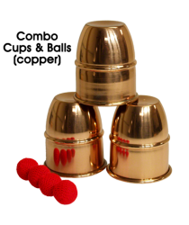 Combo Cups & Balls (Copper) by Premium magic - Trick