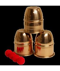 Cups & Balls (Copper) by Premium Magic - Trick