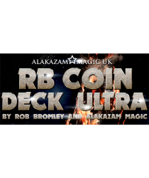 RB Coin Deck Ultra Blue (DVD and Gimmicks) by Rob Bromley - Trick