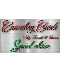 Special Edition Cascading Cards (Cherry Tahoe Blue) by Keith O'Brien - Trick