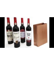 Wine Bottles From Paper Bag (4 Bottles) by Tora Magic - Trick