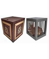Vanishing and Appearing Dove Cage in a Cube (Wooden) by Tora Magic - Trick