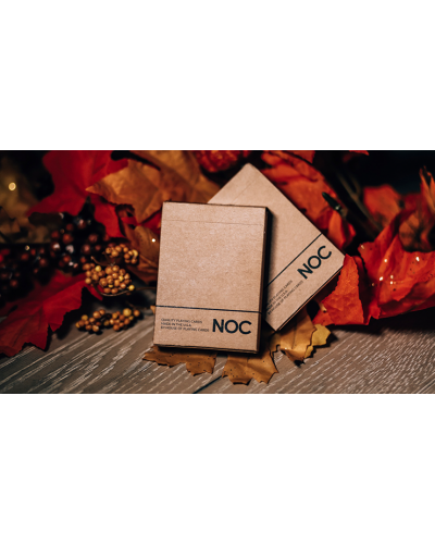 NOC on Wood (Brown) Playing Cards
