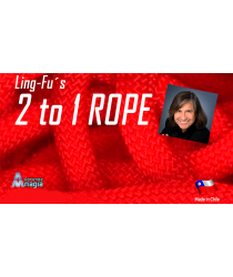 2 TO 1 Rope (Red) by Aprendemagia - Trick